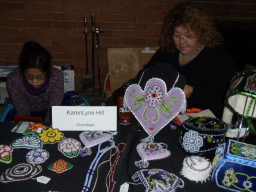 KarenLyne Hill with her beadwork